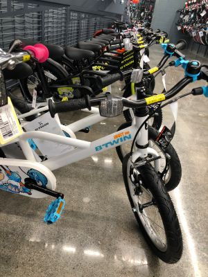 The store's bike selection starts with kids' models.