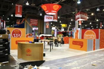 QBP's display at Interbike Tuesday