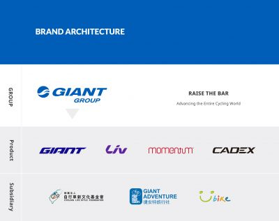 Giant Group's new brand architecture.