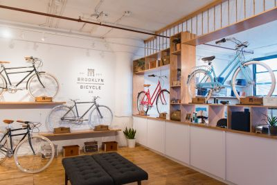 Brooklyn Bicycle Co.'s showroom, in normal times.
