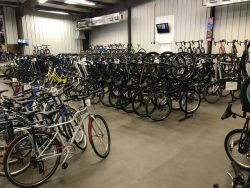 The Bicycle World of Louisiana showroom in early March.