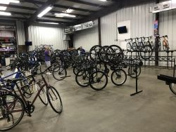 The Bicycle World of Louisiana showroom this week.