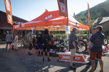 Diamondback had one of the busiest tents in the cycle area.  Billy Michels Photography