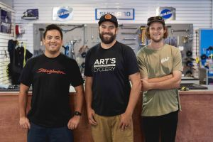 Art's Cyclery owners (from left) Jon Whisenand, Josh Job, Trevor Roland