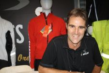 Showers Pass owner Kyle Ranson at Interbike Tuesday