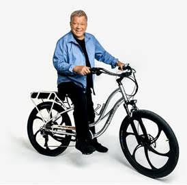 Shatner on a Pedego