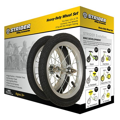 Strider Offers Heavy Duty Wheels For 12 Inch Bikes