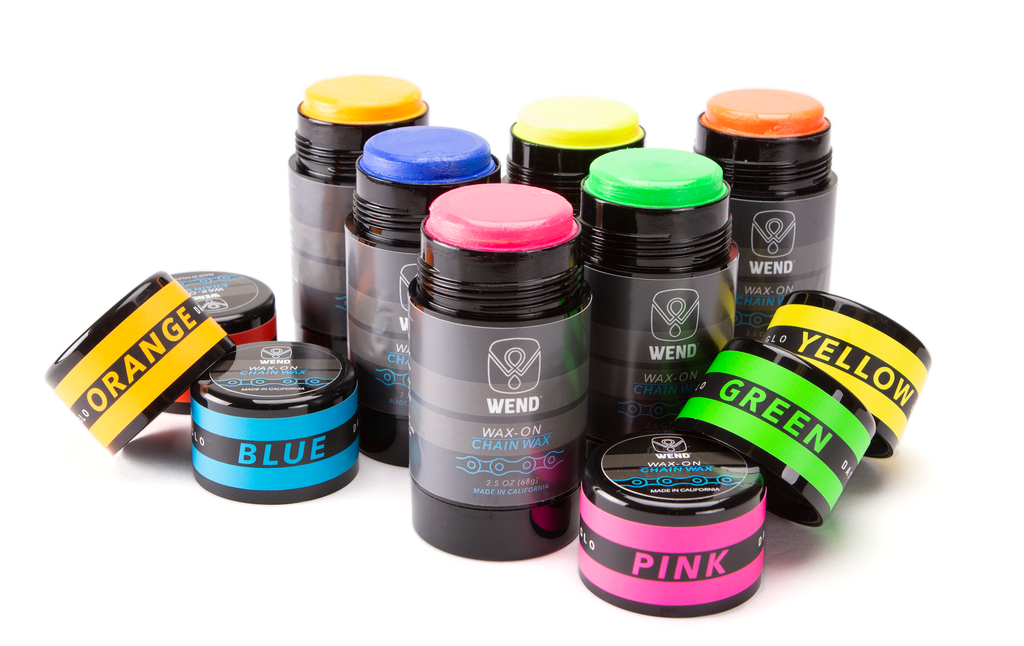 Wend Bike Offers Rub On Chain Wax In Day Glo Colors