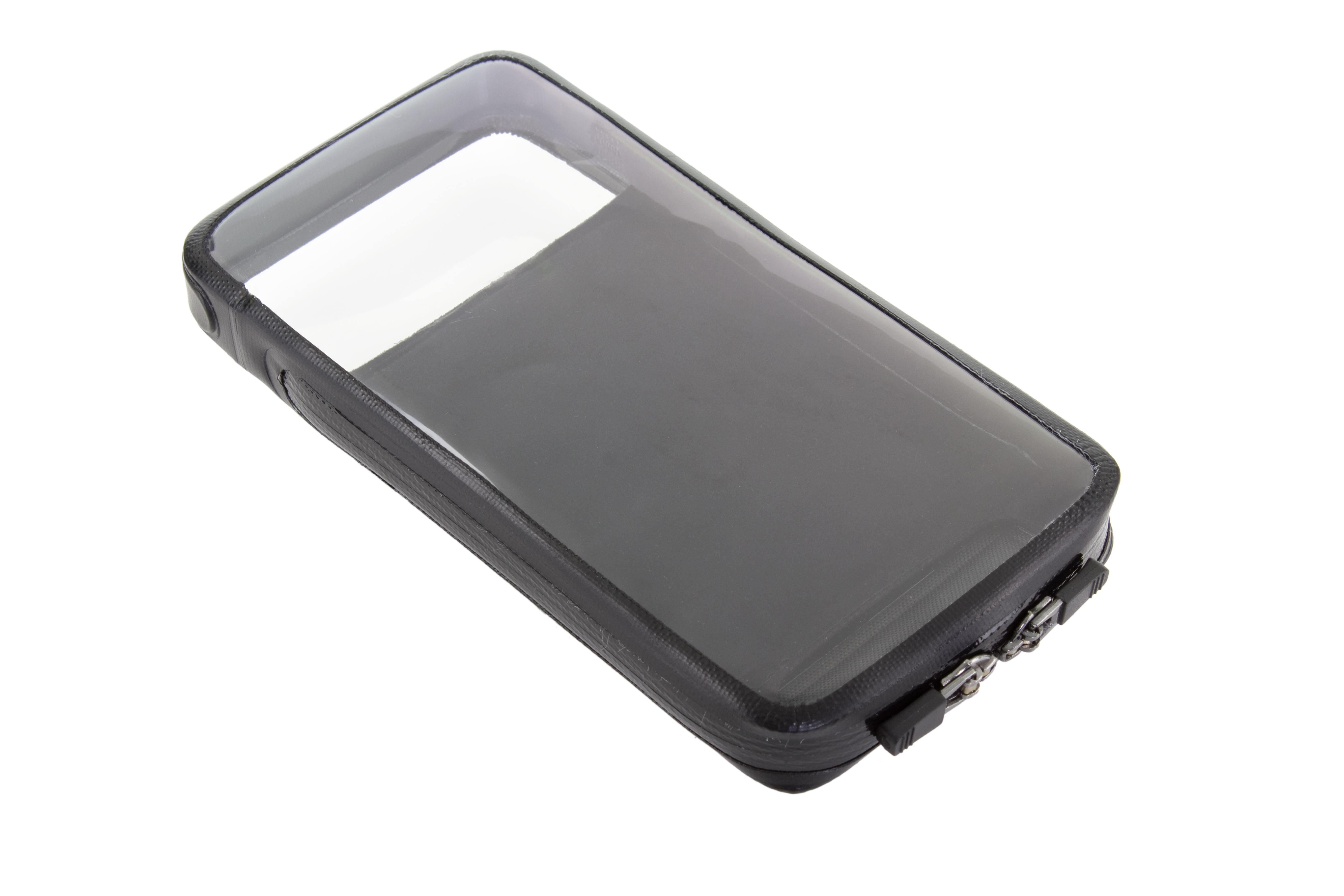 Photo: Made from sonically-welded TPU with rain-proof zippers, the WeatherCase provides access to the touchscreen, front and rear cameras and side volume/power buttons.
