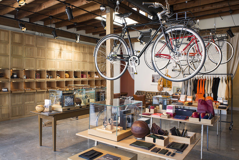 Shinola opens first west coast store bicycle retailer for Last design outlet