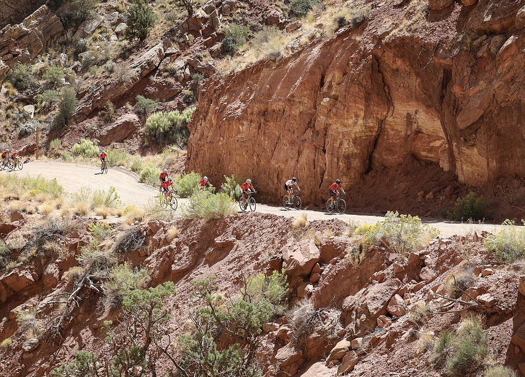 Cyclists on the Burr Trail last year. Photo by Meg McMahon.