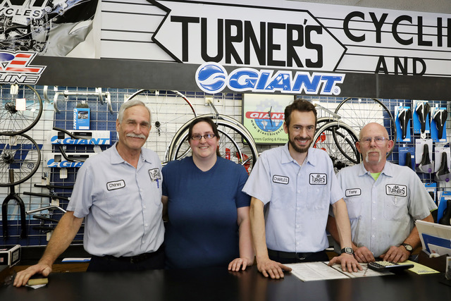 The Turner's crew, with owner Charley at left.