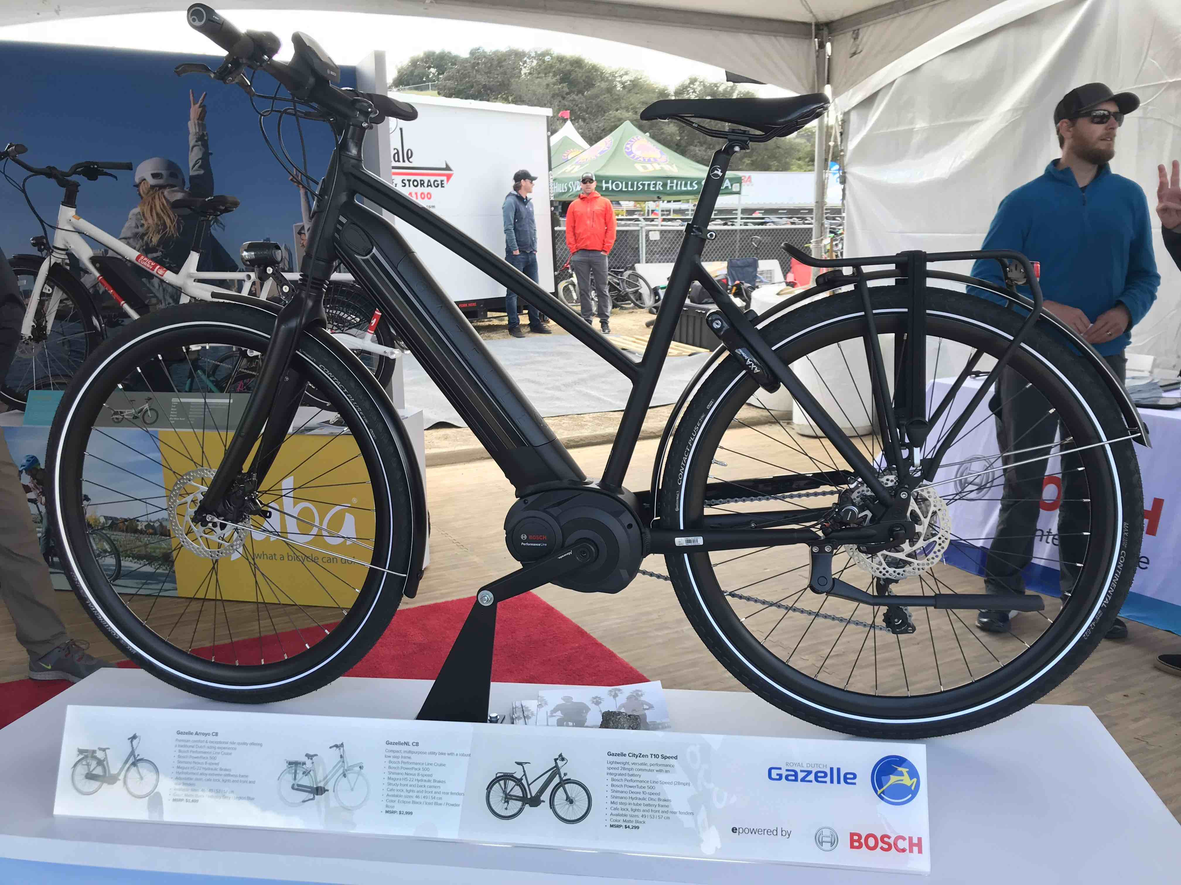 Gazelle is showing its new electric urban commuter, the CityZen, in the Bosch booth.