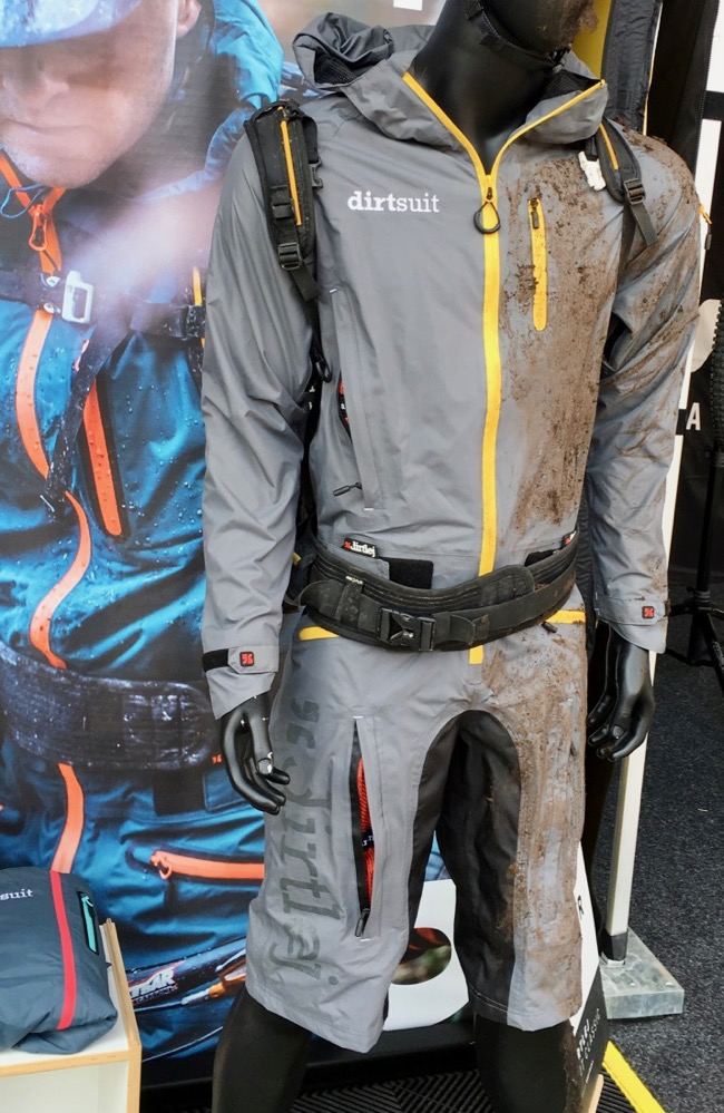 The Dirtsuit was inspired by kiteboarding gear.