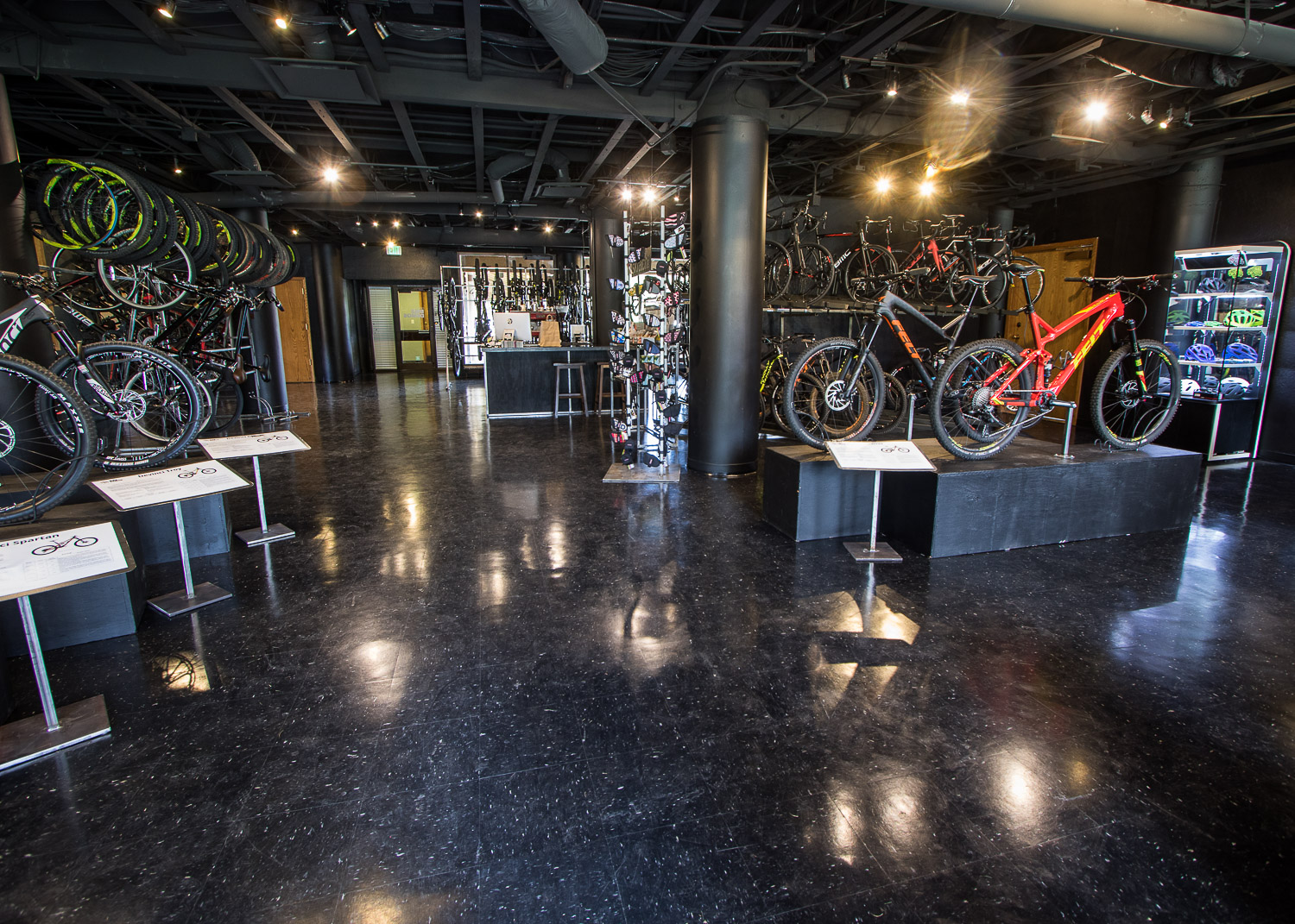 Park City Bike Demos sells demo and rental bikes to customers out of its 2,800 square-foot retail space. photo by John Shafer