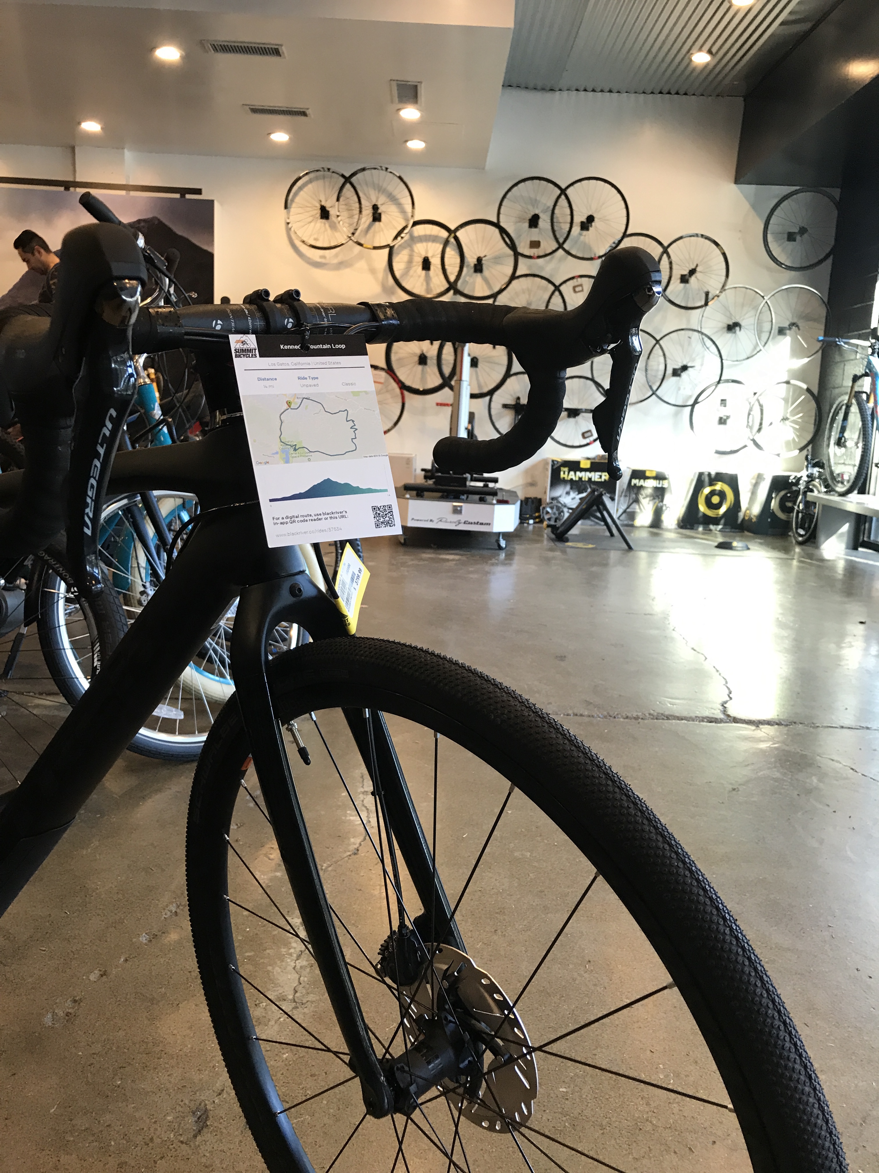 Retailer Ian Christie, co-founder of the 20 Collective and owner of five Bay Area Summit Bicycle stores, created Ride Guide hang tags to give customers an idea of where they can ride a particular bike model.