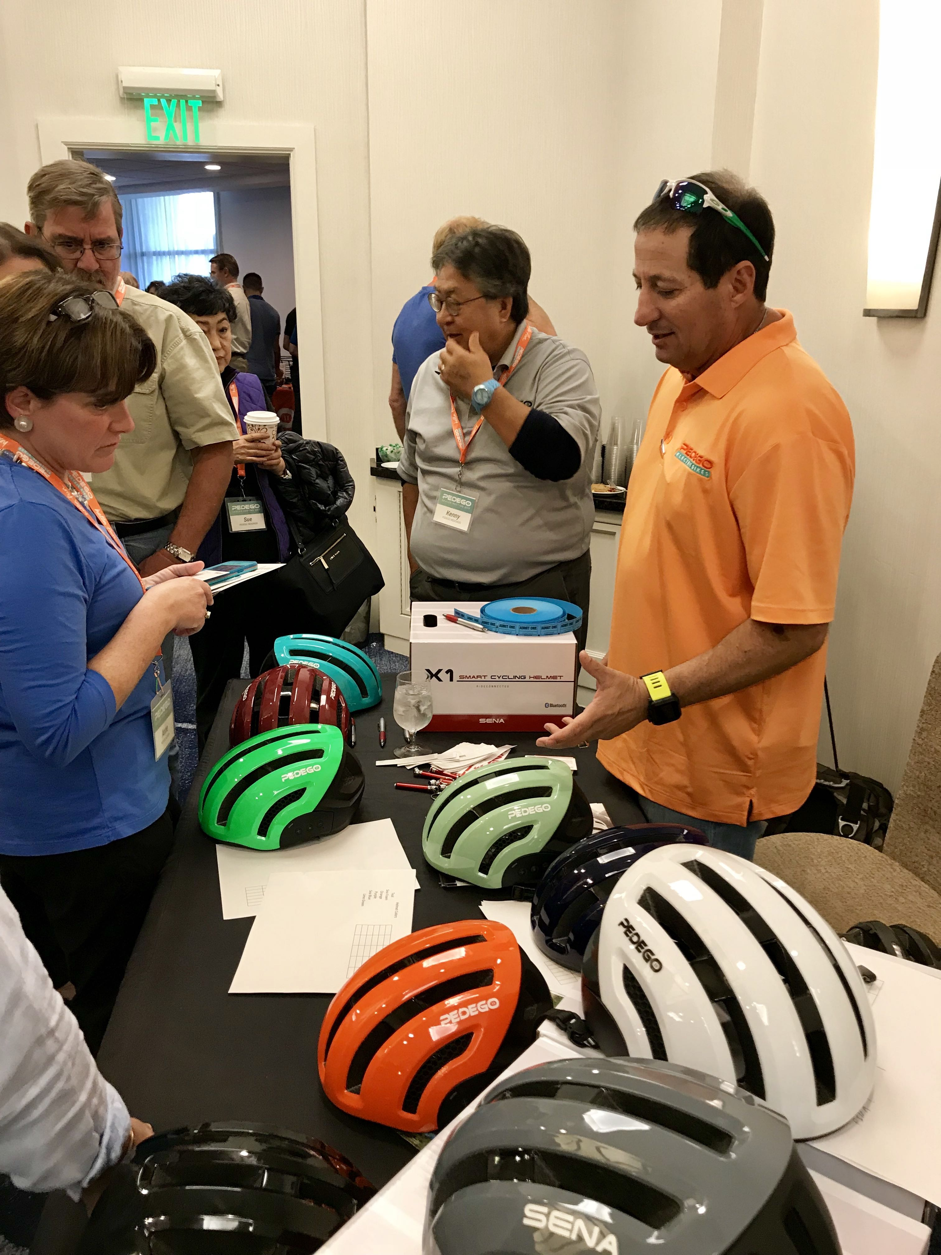 Several new parts and accessories brands exhibited at the event, including new partners Thule, Brooks, Sena Helmets and several others.