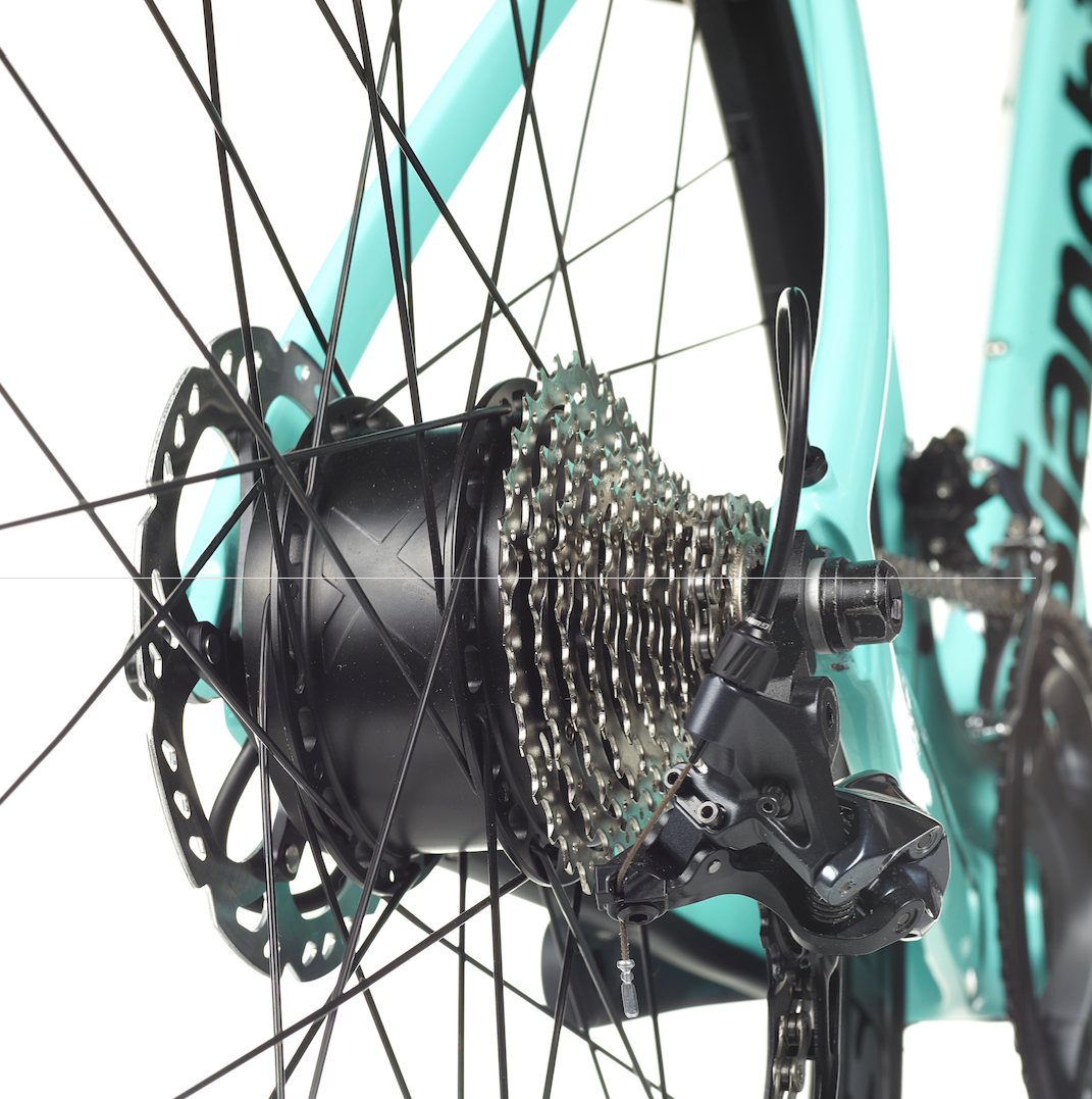 The Bianchi Aria E-Road uses the Ebikemotion hub motor.
