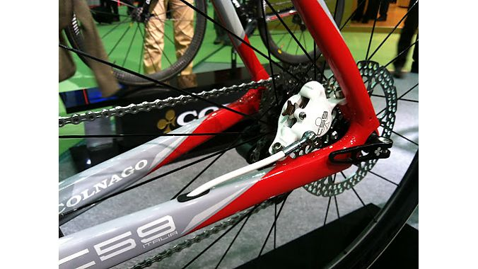 Colnago's disc brake road bike at the Taipei bike show.