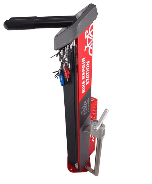 Bike Fixtation S New Deluxe Public Workstand Includes Pump