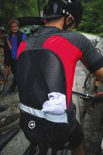 The Rally Trekking jersey features a mesh back to cushion hydration packs.