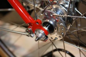 A Schmidt hub on a bike at this year's NAHBS in Denver.