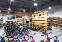 A showroom at a Bicycle Sports Shop location in Austin.