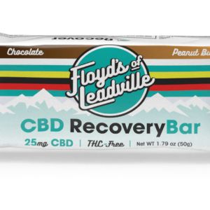 Each Floyd's CBD Recovery Bar contains 25mg of Floyd's THC-free CBD isolate.