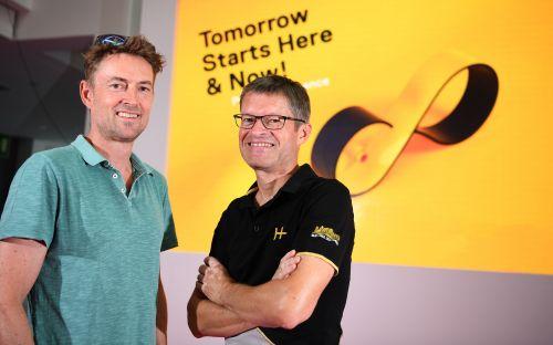 Stefan Reisinger, the head of Eurobike and Klaus Wellmann, the CEO of Messe Friedrichshafen