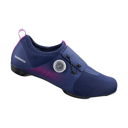 The Shimano IC5 women's indoor cycling shoe in purple.