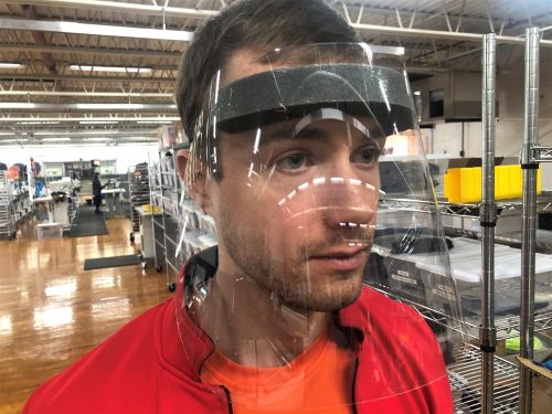 Kitsbow Cycling Apparel is manufacturing face shields and masks.