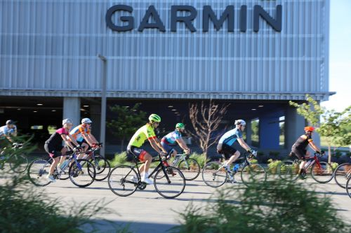 The EF Education First - Drapac P/B Cannondale team led a public ride from Garmin on Monday.