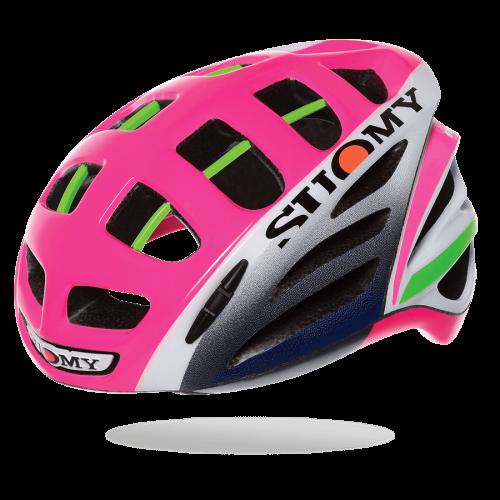 The Suomy Gun Wind road helmet, in Lampre team colors.