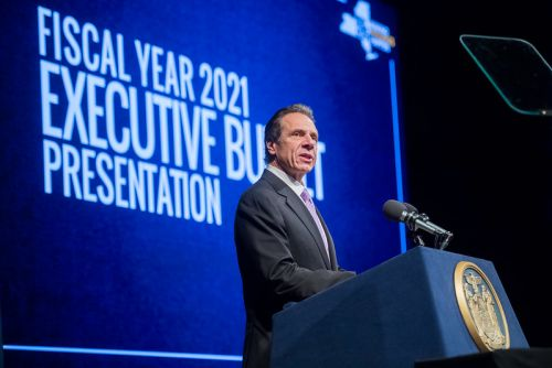 New York Gov. Andrew Cuomo delivered his budget address Tuesday.