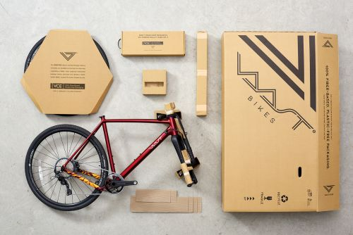 VAAST Bikes is using 100% recyclable packaging.