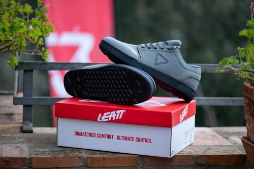 Leatt introduced a line of mountain bike shoes in March.