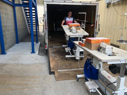 Kitsbow Cycling Apparel receives additional sewing machines.