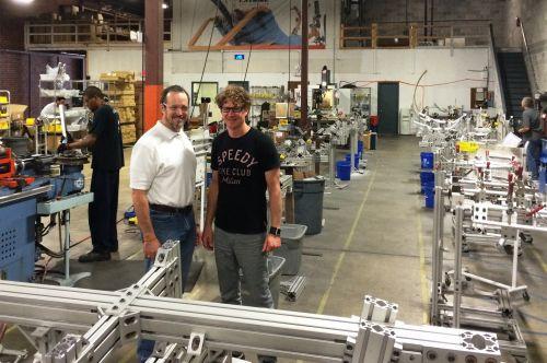 Bill Watkins (left) with Catrike GM Mark Egeland in Catrike's factory.