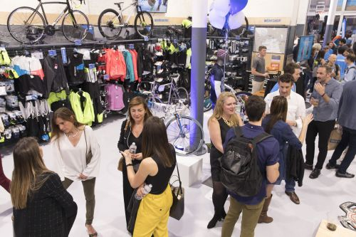 Photo from the grand opening of Decathlon's San Francisco lab store in April.