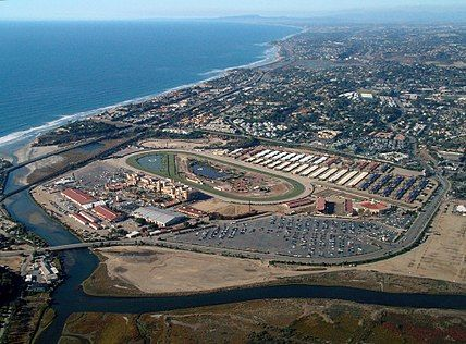 The Del Mar Racetrack.