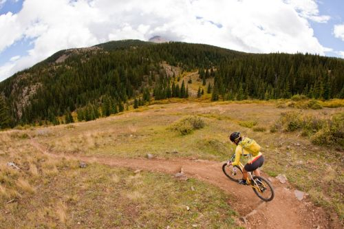 A rider on Colorado's Monarch Crest. IMBA photo.