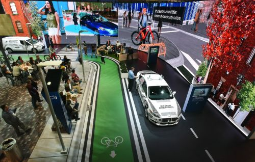 Ford's display at CES 2018. Photo courtesy of Ford.