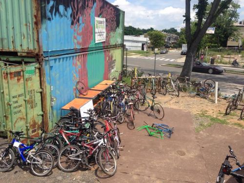 Gearin' Up Bicycles operated out of a shipping container its first summer in business.