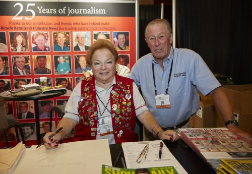 Irene and Terry at the BRAIN show booth.
