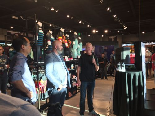 Specialized founder Mike Sinyard and Donny Perry at the grand opening.