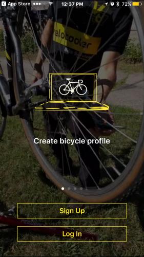 A screenshot of the Velotooler iOS app.