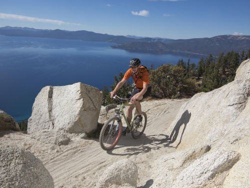 The Tahoe region boasts epic mountain biking.