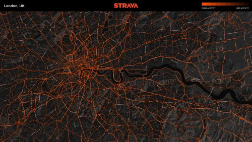 A Strava Metro map of London.