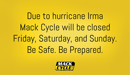 A customer alert on Mack Cycle's Facebook page.