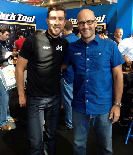 Schoening with pro racer Bernie Eisel.